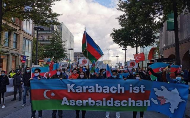 Rally In Support Of Azerbaijan Held In Hamburg Report Ge